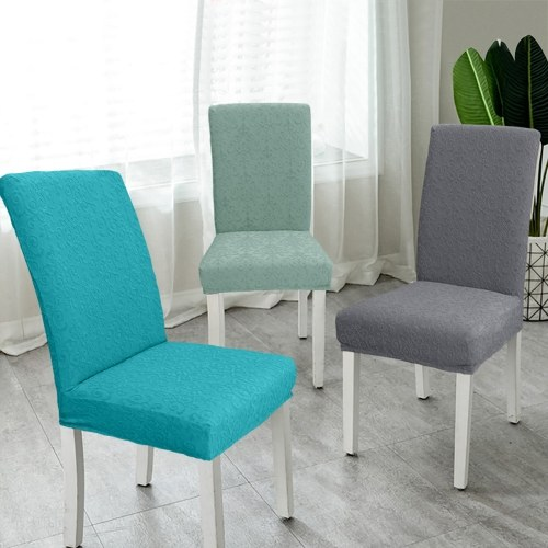 Dining Chair Slipcover, High Stretch Removable Chair Cover Washable Chair Seat Protector Cover, Jacquard Pattern, Chair Cover Slipcover for Home Party Hotel Wedding Ceremony, Green