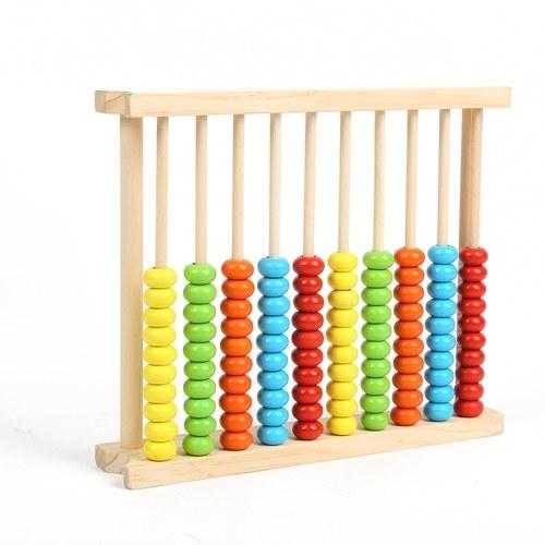 Marco de ábaco de madera para niños Juguete de conteo educativo para niños Aprendizaje de cuentas de preescolar de matemáticas Juegos de herramientas de matemáticas Marco de conteo de estudiantes