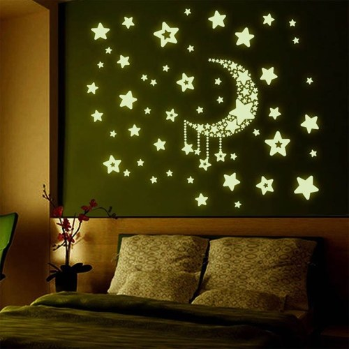 Moon Stars Adesivi luminosi Glow in The Dark