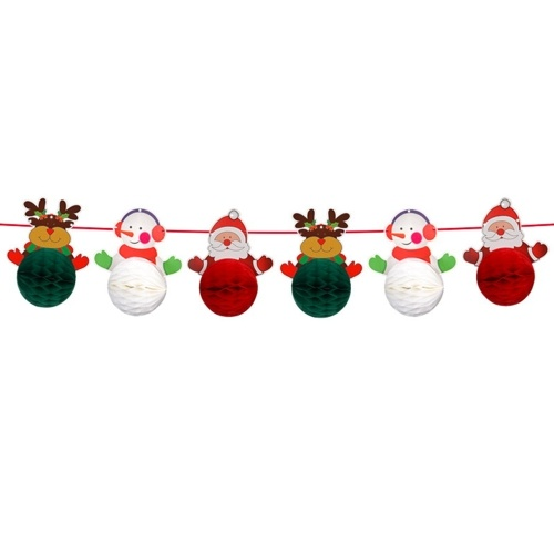 Banner de Natal pendurado decoração de banner de estamenha de Natal
