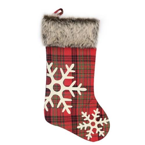 Tote bag di caramelle natalizie Calze a forma di neve Modello riutilizzabile Tote bag Borsa tote regalo
