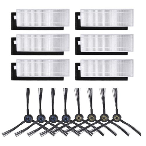 6Pcs HEPA Filters + 4 Pairs of Side Brushes