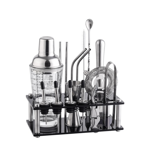 17 PCS Stainless Steel Cocktail Shaker Set