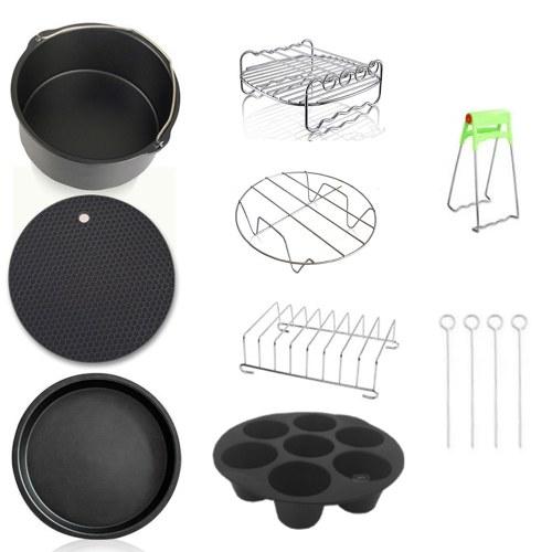 8pcs Carbon Steel Fine Quality Air Fryer Accessories Kit