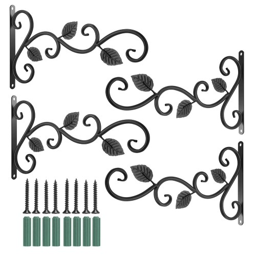 Ganchos decorativos para plantas de ganchos de hierro de 4 piezas
