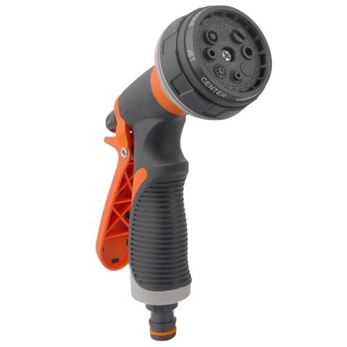 Garden Hose Nozzle Spray Nozzle Gun with 8 Adjustable Watering Patterns Anti-Slip High Pressure Water Nozzle for Watering Garden Cleaning Car Wash Pets Shower