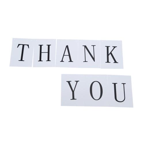Оригинальные Буквы THANK YOU Картон Свадебные Баннер-Гирлянды Реквизит Фотографии на Вечер и Бар фото