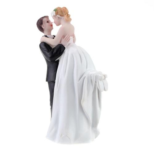 Высококачественные Куклы Невесты и Жениха из Синтетических Смол & Топпер на Торт для Свадьбы Романтическое Свадебное Украшение на Собрании Очаровательная Фигурка Искусство-Подарок