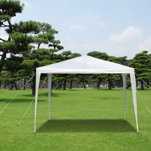 iKayaa 3 M * 3 M ausgezeichnete wasserdichte Outdoor-Garten Vordach Pavillon Party Hochzeit Camping Zelt Festzelt Pavillon