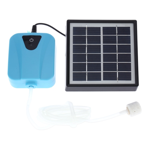 Decdeal Solar Powered/DC Charging Oxygenator Water Oxygen Pump Pond Aerator with 1 Air Stone Aquarium Airpump 2L/min