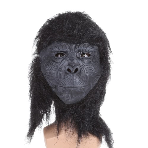 Festnight Halloween Creepy Scary King Kong Mask Latex Face Chimpanzee Mask Trick Nightmare Mask For Costume Ball