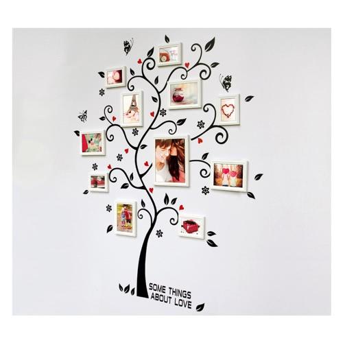 Dekoracyjne samoprzylepne Salon Sypialnia Photo Frame Memory Drzewo Naklejka Removable Mural Wall Art Naklejka Home Decor DIY