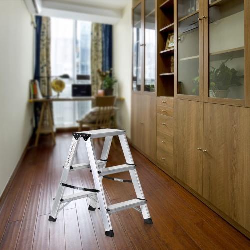 iKayaa Folding 2 Step Ladder Portable Aluminum