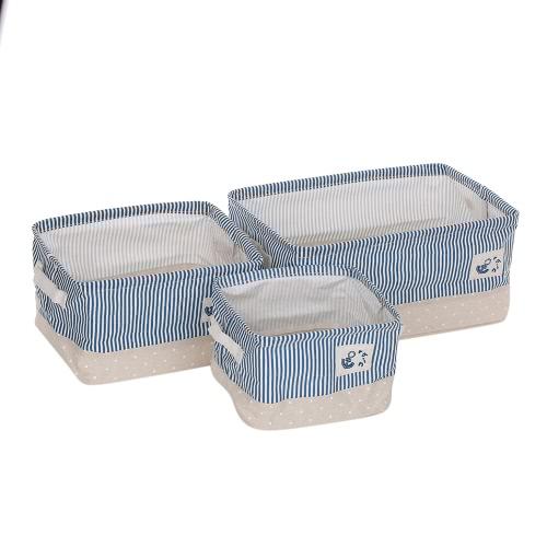 3pcs/set Foldable Storage Box Storage Bag Multifunction Storage Box Organizer Bins Lightweight Foldable Storage Basket Set for Home Dormitory Traveling Closet Organizer