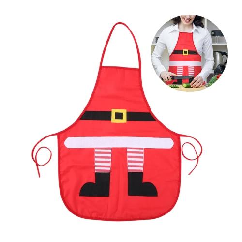 Grembiule rosso di Natale Babbo Natale