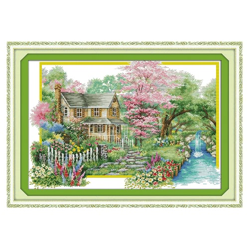 Decdeal DIY Handmade Needlework Cross Stitch Set 67 * 48cm Bordados Kit 14CT Printed Cross-Stitching Decoração para casa