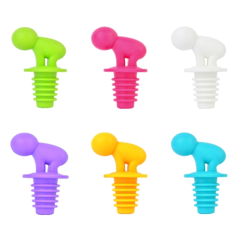 New Plastic Personal Red Wine Plug Candy Color Bottle Stopper Leak Proof Color Bottle Stopper Set