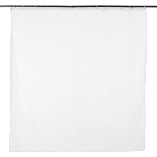 Htovila 72 * 72'' White Polyester Waterproof Mildewproof Shower Curtain Decorative Privacy Protection Bathroom Curtain with 12pcs Hooks