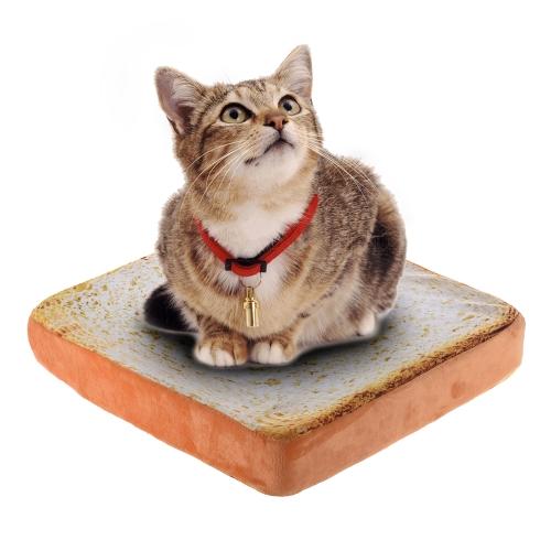 Kreative Pet Matte Weiche Warme Matratze Bett Kissen Pad Kissen Toast Brot Scheibe Form Waschbar 37 * 37 * 7 cm / 15 * 15 * 3in