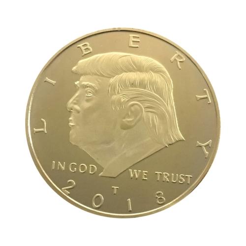 Sinnvoller Präsident-Aneremonalmünze-Gold überzogener hinterer Falken-Muster-Gedenkneuheits-Münze