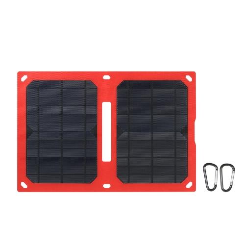 12W 5V Dual USB Solar Charger Portable Painel solar dobrável para iPhone Tablet Power Supply