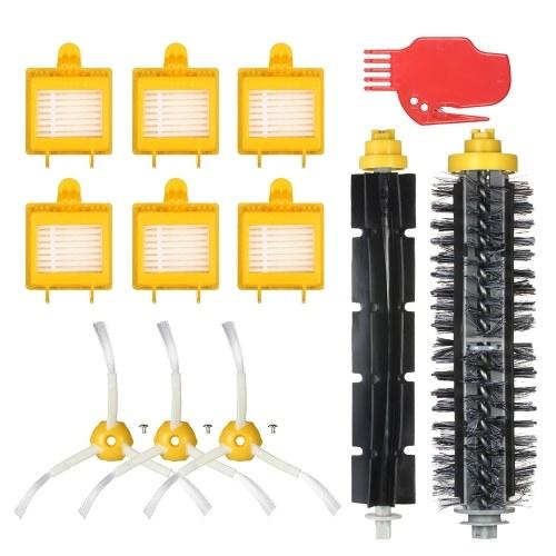 Комплект из 12 комплектов запасных частей для iRobot Roomba 700 Series 700 760 770 780 790 Пылесос - Щетка щетки + Гибкая кисть + боковые кисти + фильтр HEPA + инструмент для очистки