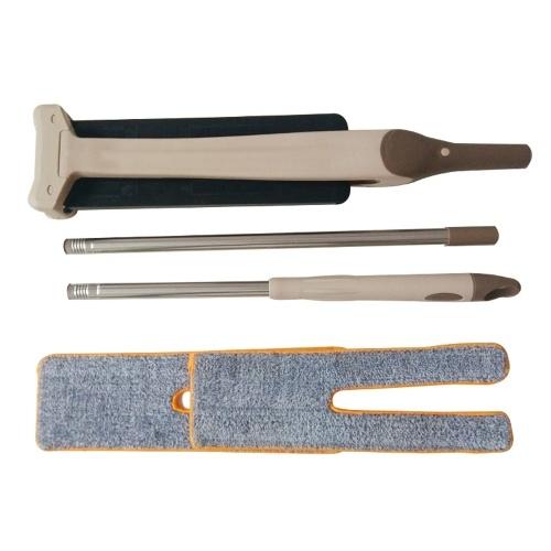 Двусторонняя свободная ручная стирка Плоская швабра Удобная ручка Из нержавеющей стали Инструмент для очистки полюсов для комнаты