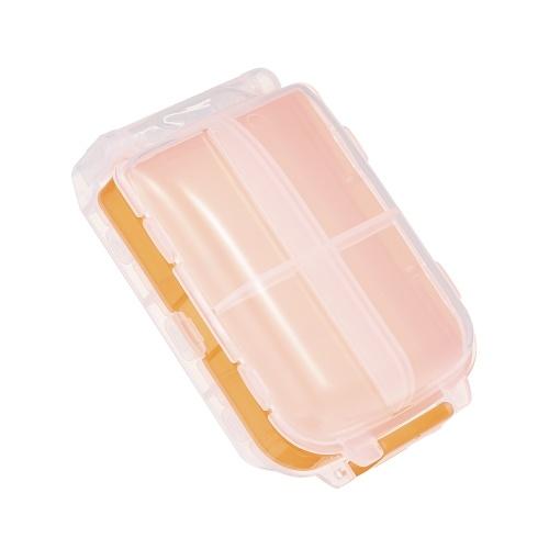 Портативный блок органайзера пилюльки с разделителем для детей Родители Пластическая медицина Витамин Travel Medication Reminder Daily