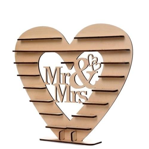 Вуд Mr & Mrs Heart Tree Свадебный шоколадный дисплей Стенд Centerpiece