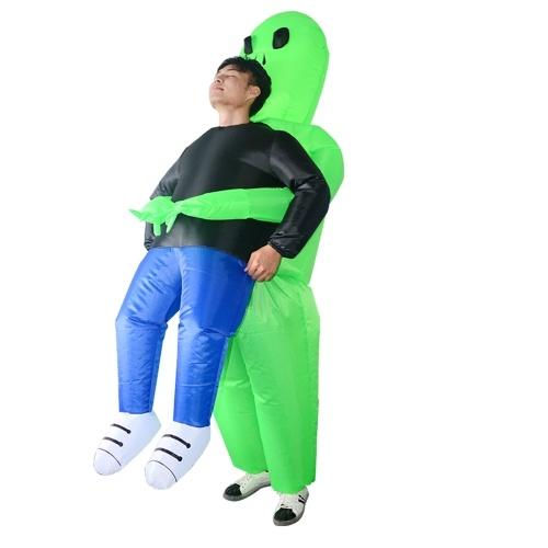 Dorośli Green Ghost Inflatable Costume Props Blow Up Inflatable Fancy Dress