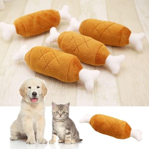 Bild von Nettes Knochen-Form-Katzen-Hundewelpen-Plüsch-Kauen-Spielzeug-Ton-Spielzeug