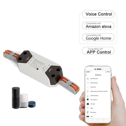 Smart Wi-Fi Switch Drahtlose Sprach- / APP-Steuerung Kompatibel mit Alexa Google Home