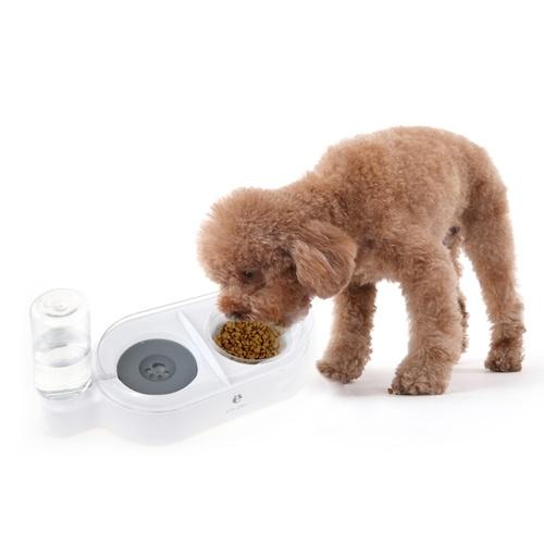 els pet Cat Dog Pets Feeder Tazón de agua automático Dispensador de agua por gravedad Tazones dobles para mascotas Cabello anti mojado a prueba de salpicaduras