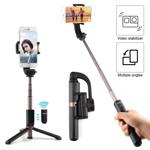 Extendable Selfie Stick Tripod with Single Axis Gimbal Wireless BT Remote