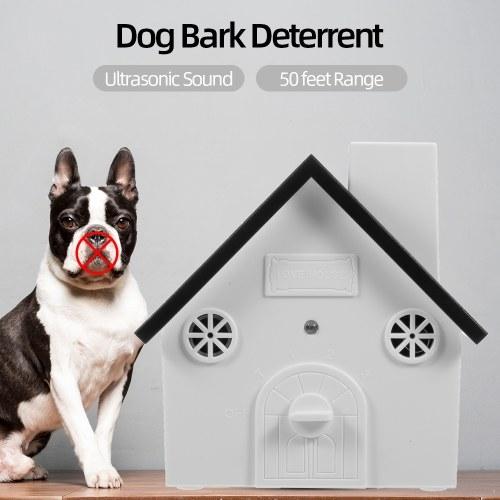 Pet Dog Safe Outdoor Bark Control Ultrasonic Sound Anti Barking Device Waterproof 4 Levels Sonic Bark Deterrents Dogs Training Control Tool