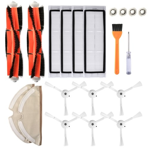 Filtros de Aspirador de pó robótico Escovas Laterais Kit de Pincéis Principais 20 pcs Acessórios de Substituição para XIAOMI Roborock S55 S50 S51 Robô Aspirador
