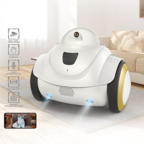 R02 Robot Pet Camera Dog 720P Camera WiFi Camera Home Security Indoor Pet Monitor