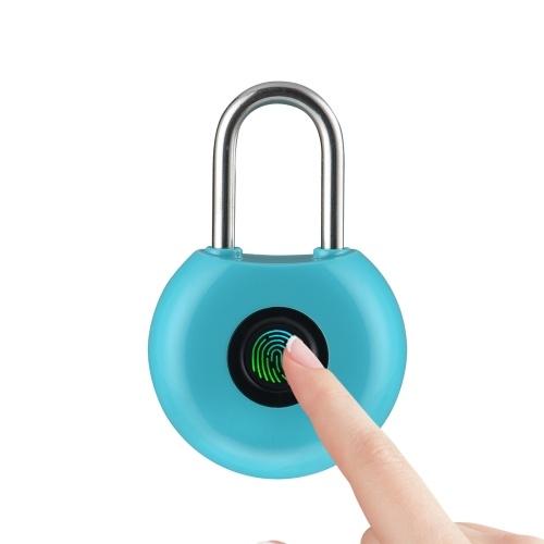 20 Groups Fingerprint Padlock Fingerprints Rechargeable Modern Locks for Lockers Bags Bicycle