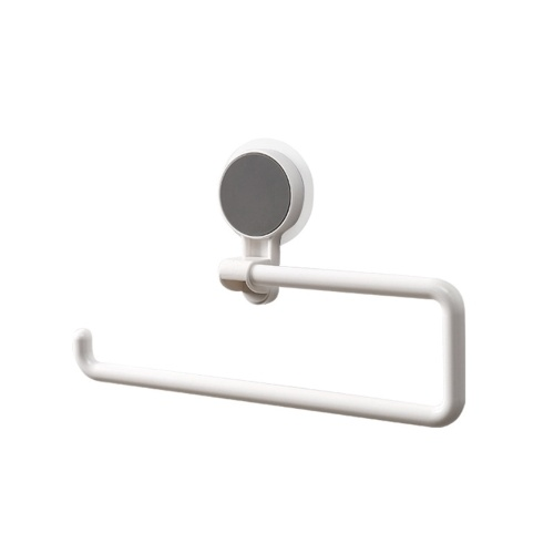 Wall Mounted Paper Towel Holder Strong Adhesive Multifunction Rotatable Roll Organizer