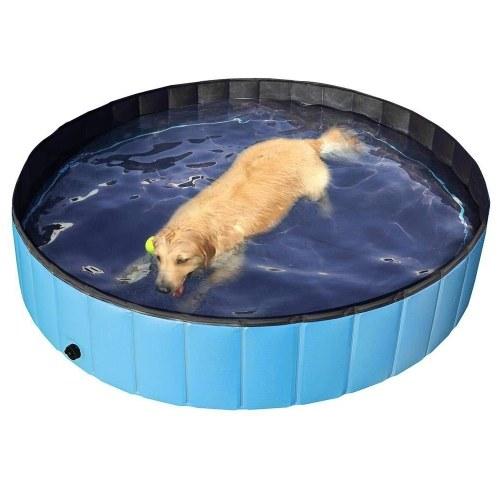 80*20cm Foldable PVC Dog Cat Pet Swimming Pool Pet Dog Pool Bathing Tub Kiddie Pool