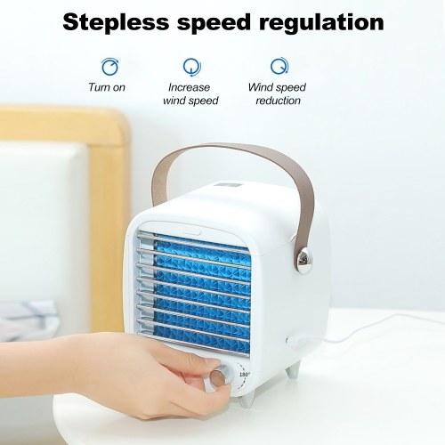 Mini Desktop Air Conditioner Fan Portable Air Purification Noiseless Evaporative Air Humidifier Purifier