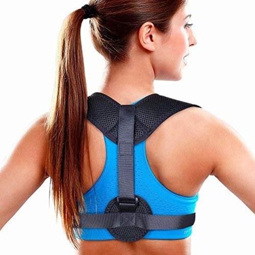 Корректор осанки для взрослых и детей - Осанка для осанки - Регулируемый выпрямитель для спины - Скромная распорка для спины для облегчения боли в верхней части спины - Удобный тренажер для осанки позвоночника (универсальный) фото