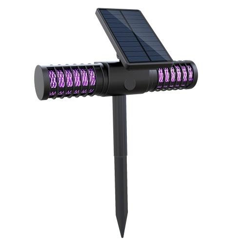 Solar Mosquito Killing Lamp USB Aufladen UV LEDs Rasen Camping Licht IP65 Wasserbeständiger Outdoor Bug Zapper