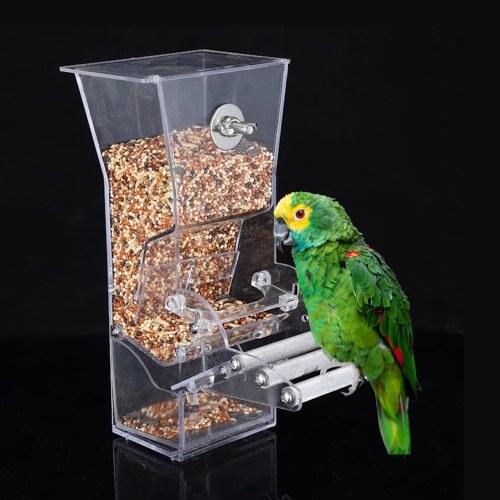 Hanging Bird Feeder for Cage Bird Feeder House Bird Feed Box Hanging Parrot Food Feeder Container Outdoor Feeding Birdfeeders Perch Cage Accessories