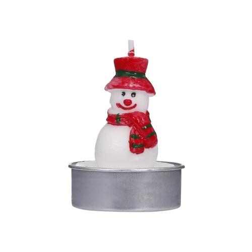 12 pièces Bougies de Noël Bougies Père Noël Bonhomme de neige