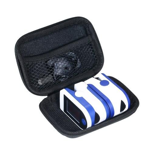 Travel Case for Fingertip Pulse Oximeter PU Shockproof Storage Box