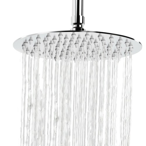 8 Inch Round Rain Showerhead G1/2 High Pressure Shower Head Bathroom Swivel Shower Head Spray Showerhead