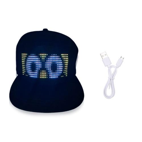 LED帽子LEDディスプレイメッセージキャップ