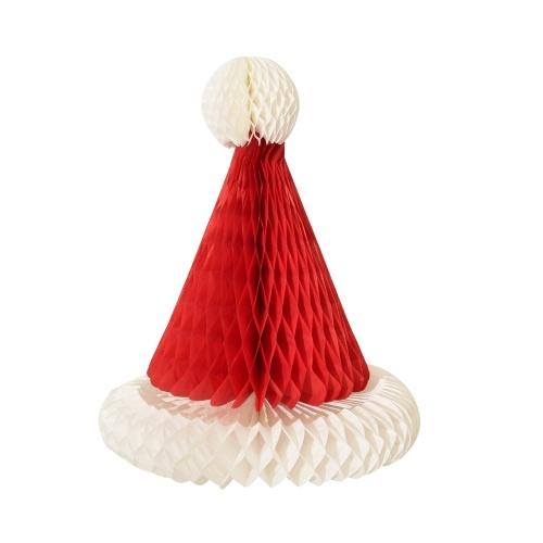 Decorazione d'attaccatura del cappello di Natale di carta dell'ornamento di Natale