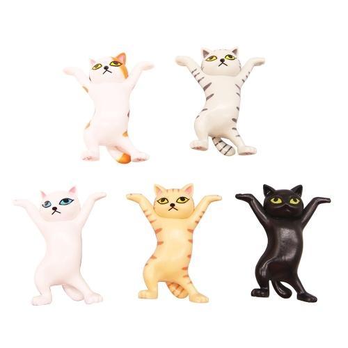 5-Kind PVC Cartoon Action Figure Cute Cat Domestic Auto Ornament Dancing Cat Artware